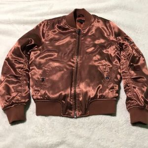 Copper Colored Bomber Jacket
